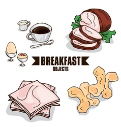 Breakfast object b vector
