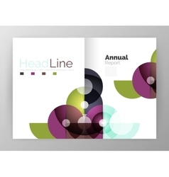Circle annual report templates business flyers vector