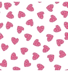 Hearts seamless pattern wrapping texture vector