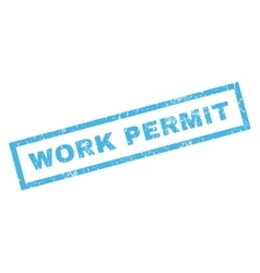 Work permit rubber stamp vector