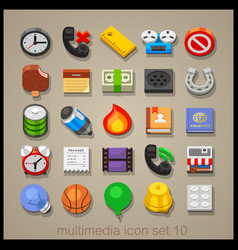 Multimedia icon set-10 vector