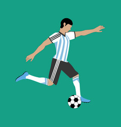 argentina football player vector image