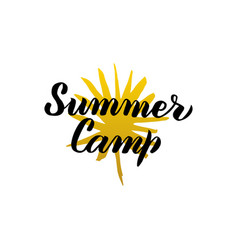 Summer camp calligraphy vector