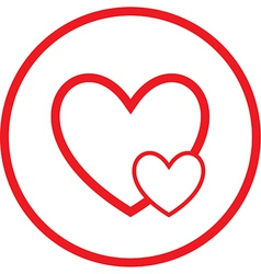 Careful heart icon vector