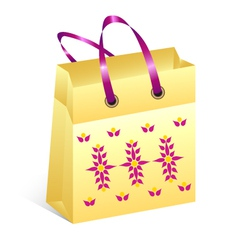 Shopping bag easter vector