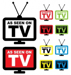 as seen on TV vector image