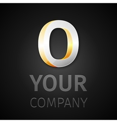 abstract logo letter O vector image