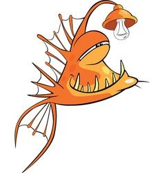 Monk fish Deep-water fish Cartoon vector image