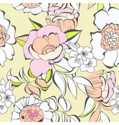 decorative seamless wallpaper vector image