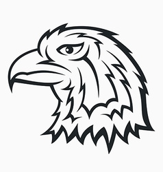 Eagle head symbol vector