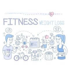 Fitness and weight loss vector