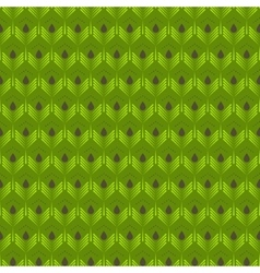 Abstract green leaves seamless pattern vector