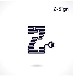 Creative z- letter icon vector