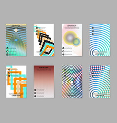 abstract business brochure compositions in vector image vector image