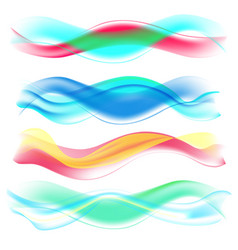 Abstract colored wave set vector