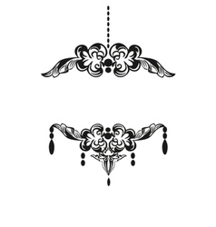 Black chandelier silhouette with candles vector