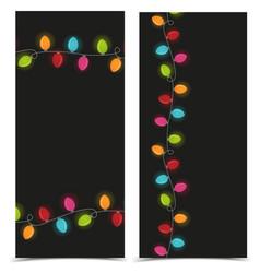 Christmas colorful lights vector