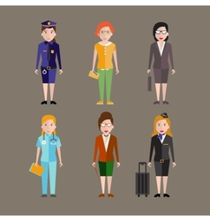 Different people professions characters vector image
