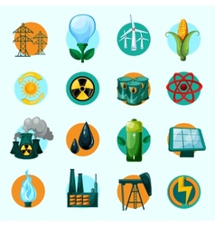 Energy Icons Set vector image