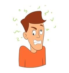 Fear icon cartoon style vector