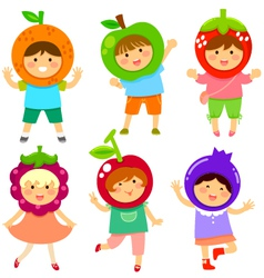 Fruity kids vector