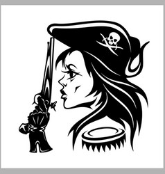 girl pirate - vector image vector image