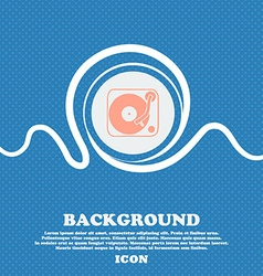 Gramophone vinyl sign icon Blue and white abstract vector image