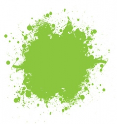 green ink splatter vector image vector image