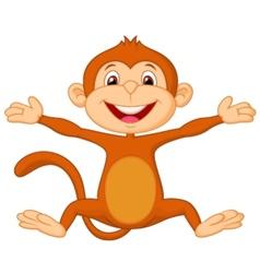 Happy monkey cartoon vector