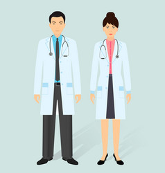 Hospital staff concept man and woman asian vector