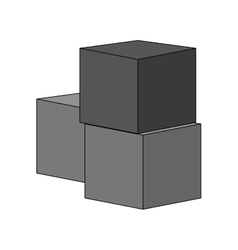 Isolated block toy design vector image