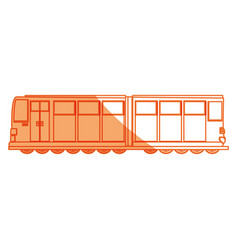 isolated merchandise train vector image
