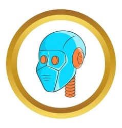 Mechanic head icon vector