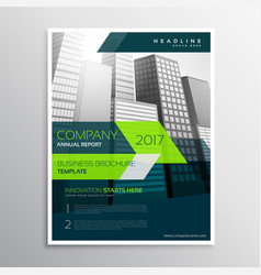 Modern company brochure template design vector