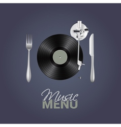 Music menu vector