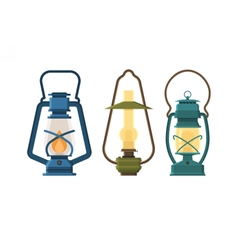 Oil lantern set vector