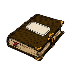 old book vector image vector image