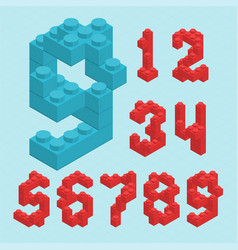 Plastic blocs numbers vector