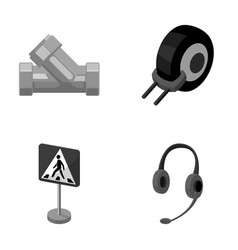 Plumbing transport and other monochrome icon in vector