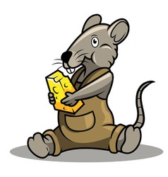 Rat and chese vector