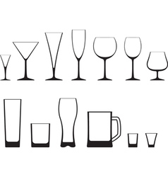 set of glasses vector image vector image