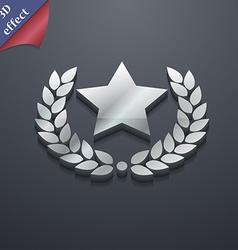 Star award icon symbol 3d style trendy modern vector