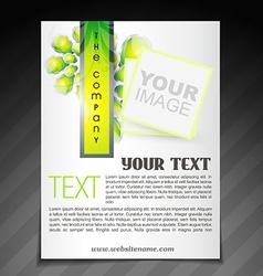Stylish company brochure vector