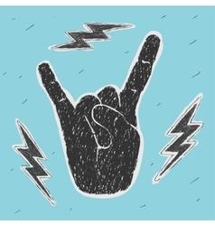 The hand symbol heavy metal vector