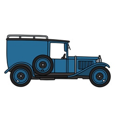 Vintage blue van vector image vector image