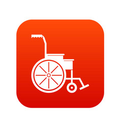 wheelchair icon digital red vector image vector image