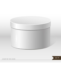 White packaging gift box on isolated background vector image