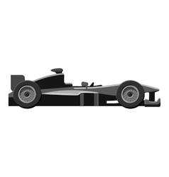 Race sport car icon gray monochrome style vector image