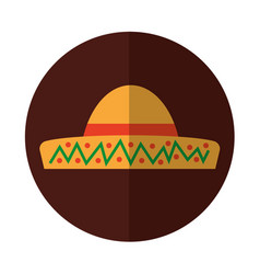 Typical latin american hat vector