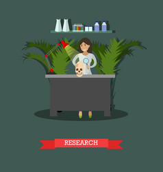 Archaeological research concept vector